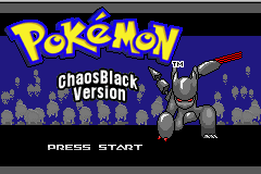 Pokemon Chaos Black GBA ROM Hacks