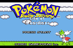Pokemon Ruby Destiny - Life of Guardians GBA ROM Hacks