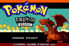 Pokemon Crimson GBA ROM Hacks