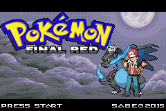 Pokemon Final Red GBA ROM Hacks