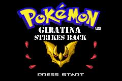 Pokemon Giratina Strikes Back GBA ROM Hacks