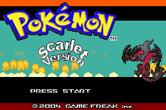 Pokemon Scarlet GBA ROM Hacks