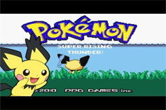 Pokemon Super Rising Thunder GBA ROM Hacks