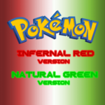Pokemon Infernal Red & Natural Green