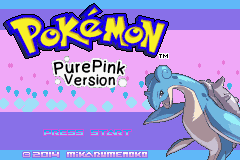 Pokemon PurePink GBA ROM Hacks