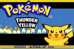 Pokemon Thunder Yellow GBA ROM Hacks