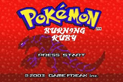 Pokemon Burning Ruby GBA ROM Hacks