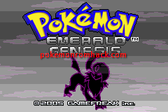 Pokemon Blazing Emerald GBA ROM Hacks