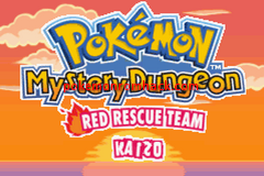 Pokemon Mystery Dungeon - Red Rescue Team Kaizo GBA ROM Hacks