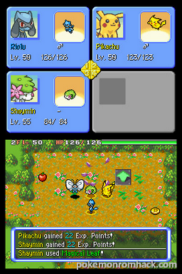 Pokemon Mystery Dungeon Explorers of Fire NDS ROM Hacks