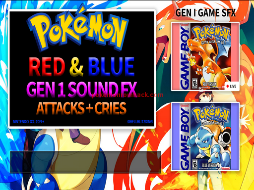Pokemon Attack SFX Pack Gens 1 to 5 Updated PC Hacks