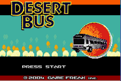 Pokemon Desert Bus GBA ROM Hacks