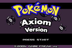 Pokemon Axiom Version GBA ROM Hacks