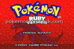 Pokemon Burning Ruby Advanced RMXP Hacks