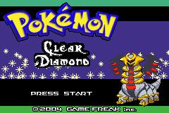 Pokemon Clear Diamond GBA ROM Hacks