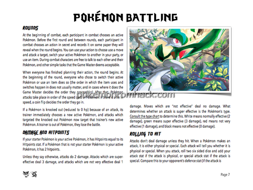 Pokemon, Pen, & Paper - A Table Top Roleplaying Game! PC Hacks