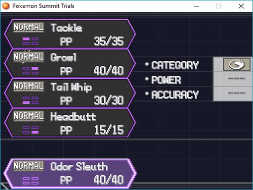 Pokemon Summit Trials Screenshot