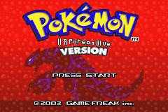 Pokemon Vaporeon Blue GBA ROM Hacks